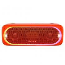 Caixa de Som Sony Speaker SRS-XB30 Vermelho Bluetooth, Wireless, NFC, 30W RMS, Extra Bass, Led Multicolorido, Resistente a Água -