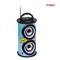 Caixa de som trc 218c 25w bluetooth portátil - usb  entrada sd bateria - Trc eletronicos