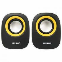 Caixa de Som USB Nipponic CR616 Branco/Preto/Amarelho - Duracell