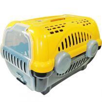 Caixa de Transporte Furacão Pet Luxo - Amarelo -