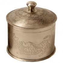 Caixa decorativa de metal alpaca índia g - Maria pia casa