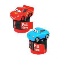 Caixa display com 12 carimbos e adesivos dos personagens CARS 0621255 Bip -