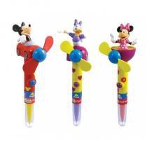 Caixa display com 6 canetas dos personagens: Mickey, Margarida e Minnie - 0621253 - Bip -