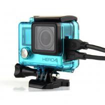 Caixa Estanque Aberta Vazada para GoPro Hero 3, 3+, 4 - Verde - Proaventura