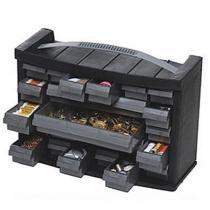 Caixa gaveteiro plástico organizador multiuso com 21 gavetas replast 7020 - Arqplast