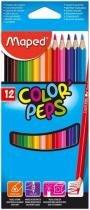 Caixa Lápis De Cor 12 Cores Maped Color Peps -