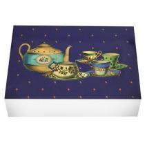 Caixa mdf para chá 25 x 18 x 6,5 cm linha liberty - Dynasty