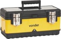 Caixa metálica para ferramentas baú 380x160x180mm com bandeja cmv0380 - Vonder -