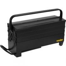 Caixa metálica para ferramentas sanfonada 600x190x240mm 7 gavetas com puxador e rodas - Vonder -