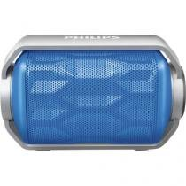Caixa multimidia 2,8w wireless/bluetooth/microfone/prova dagua bt2200a/00 azul philips -