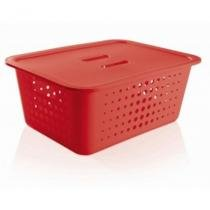 Caixa Organizadora Ou G com Tampa Vermelha - Ou-Martiplast