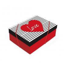 Caixa Organizadora P/Presente Love G 46X33X14 Dec. Festas - Cromus