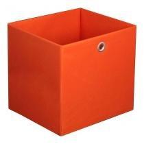 Caixa Organizadora Retangular Grande Laranja 30X32X28 Cm Acasa Móveis - Acasa
