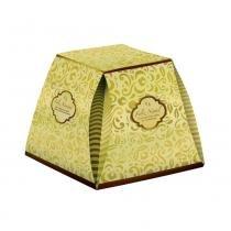 Caixa Panetone Marrom Ouro 500g - Cromus -