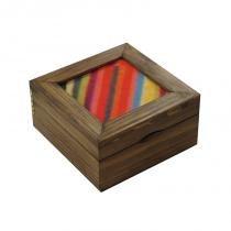 Caixa para chá caleidoscópio - Colorido - Brindes da terra