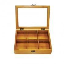 Caixa para chas em bambu e poliestireno londres - Verde - Welf