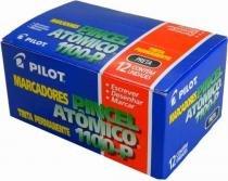 Caixa Pincel Atômico 1100-p Preto - Pilot C/ 12unidades -