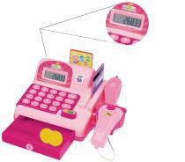 Caixa Registradora Infantil Calculadora Rosa Brinquedo (DMT5112) - Dm toys