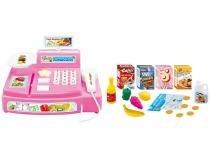 Caixa Registradora Infantil Tec Toys Mini Feirinha - Polibrinq 24 Peças