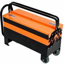 Caixa Sanfon Cargobox com Rodas Puxador e 5 Gavetas - Tramontina -