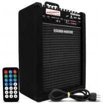 Caixa Som Amplificada Multi Uso Semi Profissional MP30X 30W USB Bluetooth Sound Maker -