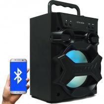 Caixa Som Amplificada Portátil Bluetooth Mp3 Fm Usb Sd Aux Bateria 5W Rms Led Rgb KTS-943A -
