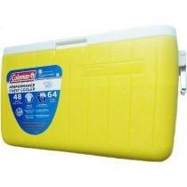 Caixa térmica 48qt (45,4l) amarela coleman -