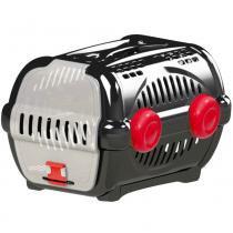 Caixa transporte luxo n.2 furacão pet  black / vermelho -
