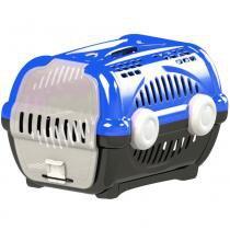 Caixa transporte luxo n.3 furacão pet  azul -