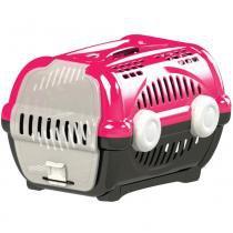 Caixa transporte luxo n.3 furacão pet  rosa - Furacão pet