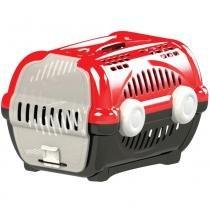 Caixa transporte luxo n.3 furacão pet  vermelho - Furacão pet