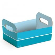 Caixote de Papel Cartão Festa das Cores 10 unidades Cromus - Azul - festabox