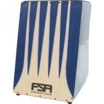 Cajon Elétrico Elite Com Pele De 4 Mm Azul Fe3304 Fsa - Fsa