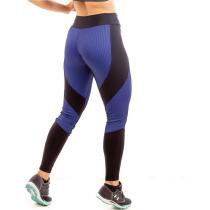 b05f95579 Calça Legging Darkan 3D Íon Fitness Azul e Preto - Ion fitness