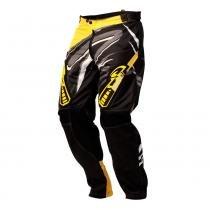 Calça Motocross Insane 3 Preto E Amarelo Pro Tork - 50 - Pro Tork