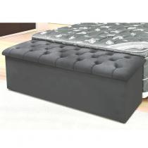 Calçadeira para Cama de Casal Queen Size Lotus Simbal Cinza Escuro - Simbal