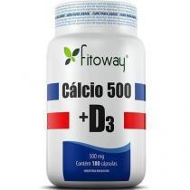 Cálcio 500 + D3 500mg - 180 Cápsulas - Fitoway - Fitoway