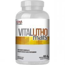 Cálcio de Alga Lithothamnium Vitamina D e Magnésio 90 Cáps - Chá mais