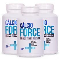 Cálcio Force - Vitamina D, Magnésio e Zinco 180 Caps  3 Unidades - Saúde garantida