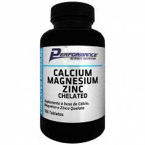 Cálcio Magnésio Zinco Quelato 100 tabletes Performance Nutrition - Performance Nutrition