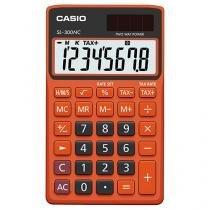 Calculadora de Bolso Casio 8 Dígitos - Colorful SL-300NC Laranja e Preta
