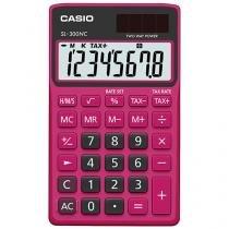 Calculadora de Bolso Casio 8 Dígitos - Colorful SL-300NC Pink e Preta