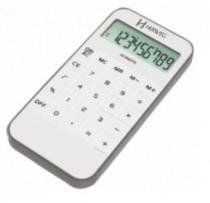 Calculadora de mão mesa herweg 8504 branca fina - Herweg