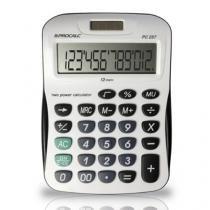 Calculadora de Mesa Bateria e solar com 12 Dígitos Grandes - PC257 - Procalc
