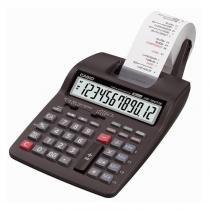 Calculadora de mesa com bobina 12 dígitos com fonte bivolt HR-100TM-BK-A - Casio - CASIO ELETR PRINCE