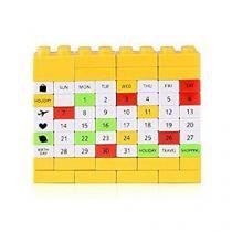 Calendário Bloco de Montar - Amarelo - L3 store