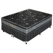 Cama Box (Box+Colchão) Casal Prolastic 193x203x60 King Preto - Celiflex