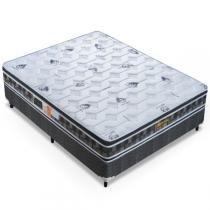 Cama Box Casal (Box + Colchão) Molas Ensacadas - 138x188x63 - Celiflex