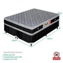 Cama Box Casal Extra Firme Ortopédico 193x203x62 - King - Celiflex