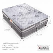 Cama Box Casal King (Box + Colchão) 193x203x67cm - Celiflex